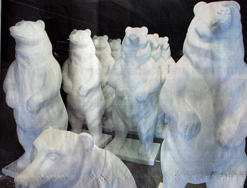 blank bears prior to painting