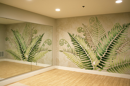 Yoga Studio Fern Mural